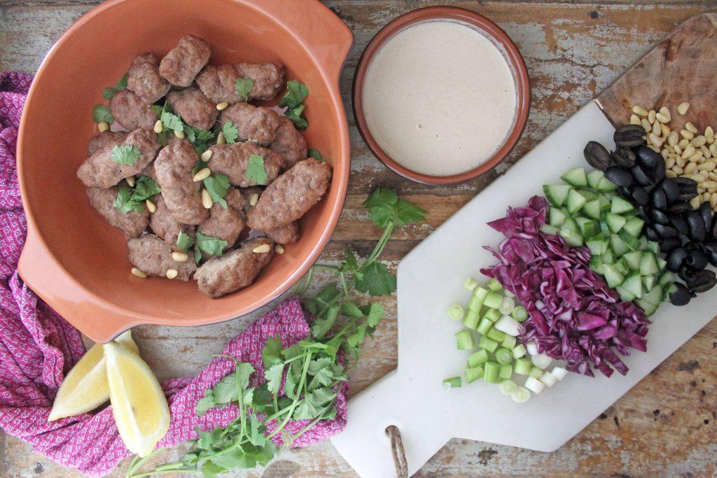Keto Lamb Koftas with Moroccan Chopped Salad
