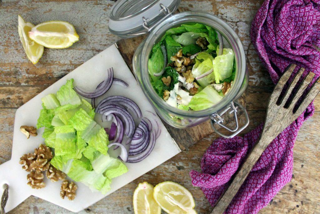 Mason Jar Chicken Keto Caesar Salad