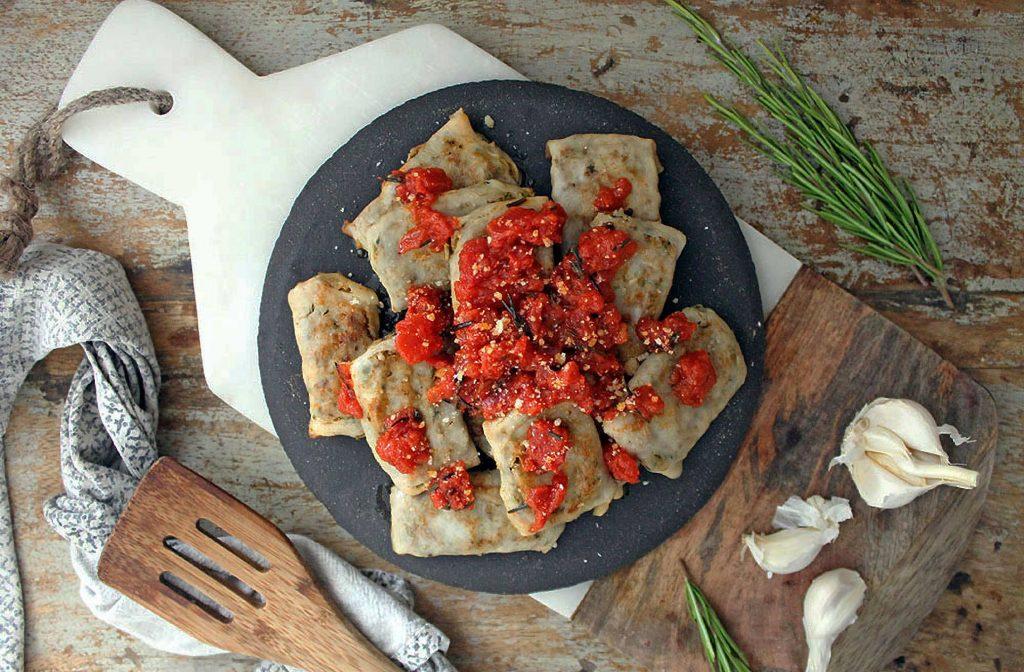 Low Carb Chicken and Chorizo Ravioli