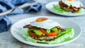 Breakfast Keto Burger Stack