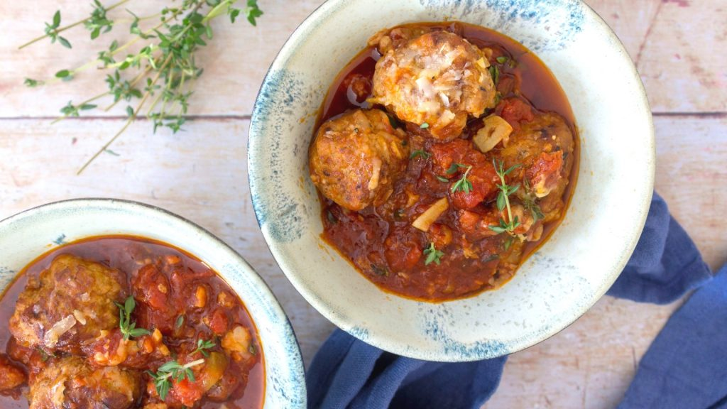 Low Carb Pork and Chorizo Meatballs