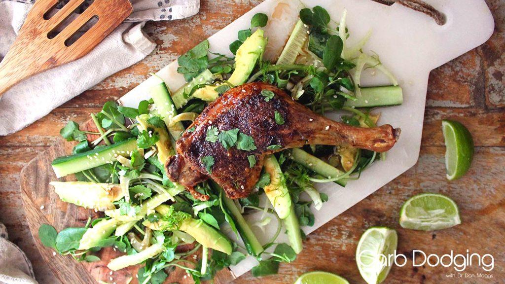 Low Carb Five Spice Duck Salad