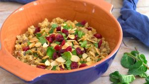 Low Carb Lamb Pilaf with Cranberries and Almonds