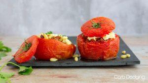 Keto Lamb Stuffed Beef Tomatoes