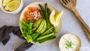 Keto Smoked Salmon and Prawn Pate Salad
