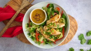 Low Carb Spicy Chicken and Peanut Noodle Salad