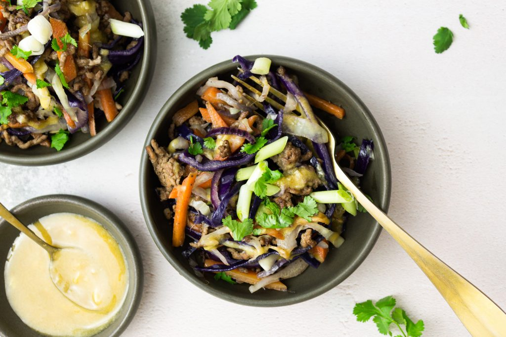 Low Carb Spring Roll in a Bowl