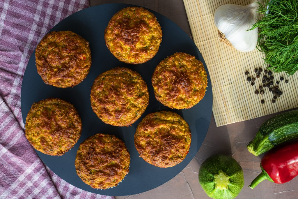 Cheddar and Courgette Muffins