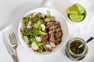 Keto Garlic Roast Beef Salad
